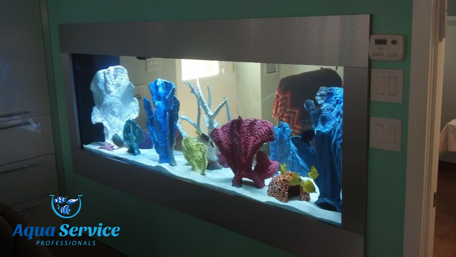Fish tank cleaning service -  Maintenance Nj Wa Aquarium Makeover Aqua Service Professionals